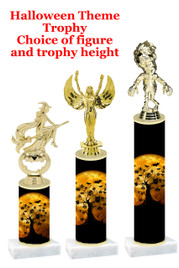 Premier exclusive Halloween trophy.  Choice of trophy height, base and figure.  (sub-hall-35