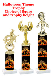 Premier exclusive Halloween trophy.  Choice of trophy height, base and figure.  (sub-hall-36