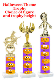 Premier exclusive Halloween trophy.  Choice of trophy height, base and figure.  (sub-hall-37