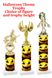 Premier exclusive Halloween trophy.  Choice of trophy height, base and figure.  (sub-hall-38