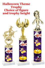 Premier exclusive Halloween trophy.  Choice of trophy height, base and figure.  (sub-hall-39