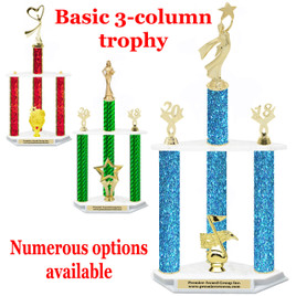 Basic 3-column trophy.  Numerous options available.