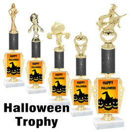 Premier exclusive Halloween trophy.  Glitter Halloween trophy with choice of trophy height, base and figure.  (r450-1
