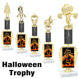Premier exclusive Halloween trophy.  Glitter Halloween trophy with choice of trophy height, base and figure.  (r450-3