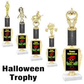 Premier exclusive Halloween trophy.  Glitter Halloween trophy with choice of trophy height, base and figure.  (r450-4