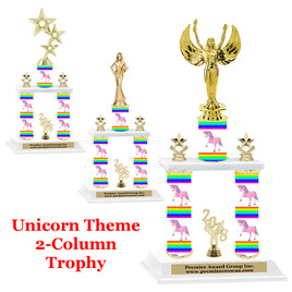 Unicorn 2-Column trophy.  Numerous trophy heights and figures available  (001