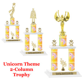 Unicorn 2-Column trophy.  Numerous trophy heights and figures available  (002