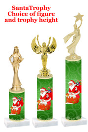 Santa trophy with choice of trophy height and figure - winter 003