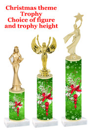 Holiday Decorations  trophy with choice of trophy height and figure - winter 005