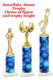Snowflake  trophy with choice of trophy height and figure - winter 008