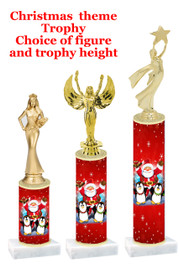 Santa  trophy with choice of trophy height and figure - winter 009