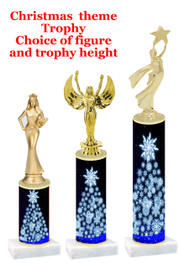 Christmas/Winter theme  trophy with choice of trophy height and figure - winter 010