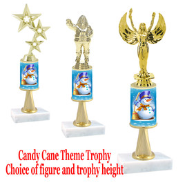 Snowman theme  trophy with choice of trophy height and figure - Winter 001
