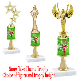 Holiday Decorations  theme  trophy with choice of trophy height and figure - Winter 005
