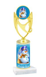 Winter - Christmas theme  trophy with choice of trophy height  with matching insert.  (006