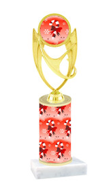 Winter - Christmas theme  trophy with choice of trophy height  with matching insert.  (015