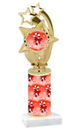 Winter - Christmas theme  trophy with choice of trophy height  with matching insert.  (017
