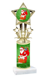 Winter - Christmas theme  trophy with choice of trophy height  with matching insert.  (020