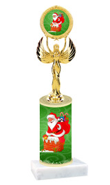 Winter - Christmas theme  trophy with choice of trophy height  with matching insert.  (021