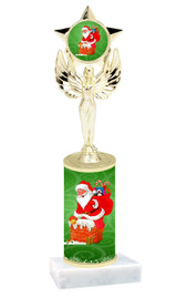 Winter - Christmas theme  trophy with choice of trophy height  with matching insert.  (023