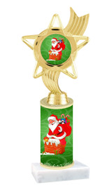 Winter - Christmas theme  trophy with choice of trophy height  with matching insert.  (024