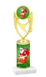 Winter - Christmas theme  trophy with choice of trophy height  with matching insert.  (025