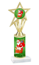 Winter - Christmas theme  trophy with choice of trophy height  with matching insert.  (026