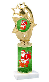 Winter - Christmas theme  trophy with choice of trophy height  with matching insert.  (027