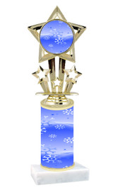 Winter - Christmas theme  trophy with choice of trophy height  with matching insert.  (030
