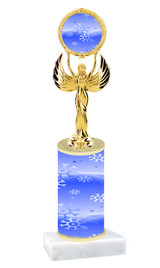 Winter - Christmas theme  trophy with choice of trophy height  with matching insert.  (031