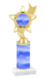 Winter - Christmas theme  trophy with choice of trophy height  with matching insert.  (034