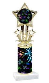 Winter - Christmas theme  trophy with choice of trophy height  with matching insert.  (040