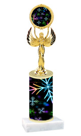 Winter - Christmas theme  trophy with choice of trophy height  with matching insert.  (041