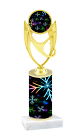 Winter - Christmas theme  trophy with choice of trophy height  with matching insert.  (045