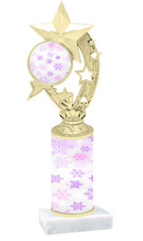 Winter - Christmas theme  trophy with choice of trophy height  with matching insert.  (050