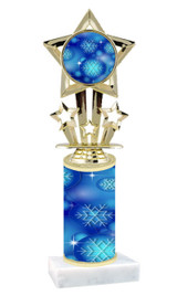 Winter - Christmas theme  trophy with choice of trophy height  with matching insert.  (056