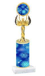 Winter - Christmas theme  trophy with choice of trophy height  with matching insert.  (057