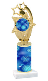 Winter - Christmas theme  trophy with choice of trophy height  with matching insert.  (063
