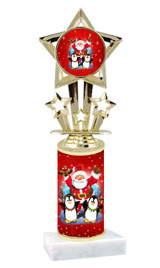 Winter - Christmas theme  trophy with choice of trophy height  with matching insert.  (064