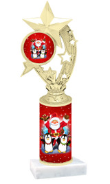 Winter - Christmas theme  trophy with choice of trophy height  with matching insert.  (066
