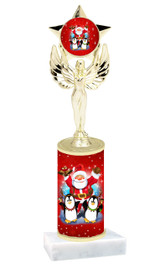 Winter - Christmas theme  trophy with choice of trophy height  with matching insert.  (067