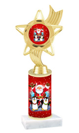 Winter - Christmas theme  trophy with choice of trophy height  with matching insert.  (068