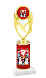 Winter - Christmas theme  trophy with choice of trophy height  with matching insert.  (069