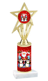 Winter - Christmas theme  trophy with choice of trophy height  with matching insert.  (070
