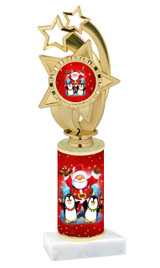 Winter - Christmas theme  trophy with choice of trophy height  with matching insert.  (071