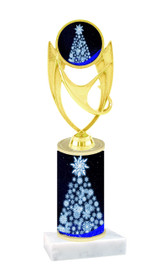 Winter - Christmas theme  trophy with choice of trophy height  with matching insert.  (077