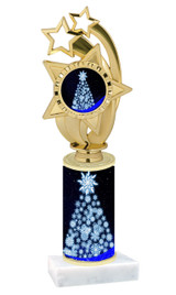 Winter - Christmas theme  trophy with choice of trophy height  with matching insert.  (079