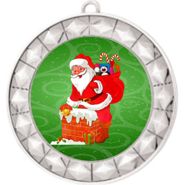 Santa  theme medal..  Includes free engraving and neck ribbon.   935s2