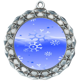 Snowflake theme medal..  Includes free engraving and neck ribbon.   blue4-md40s