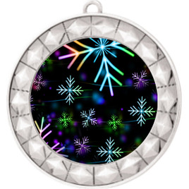 Snowflake theme medal..  Includes free engraving and neck ribbon.   BLsnow-935s